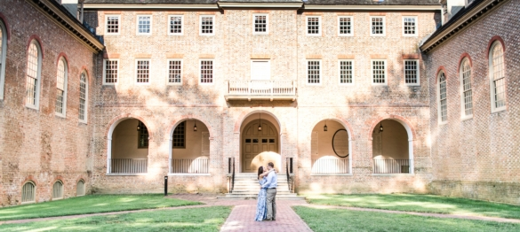 Kayla and Mike - A William and Mary Engagement Session in Williamsburg